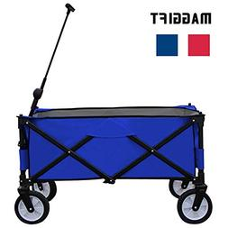 Maggift Collapsible Folding Outdoor Utility Wagon Cart