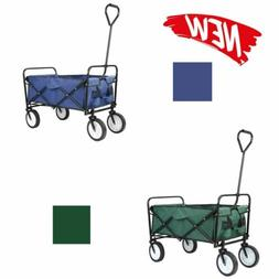 Collapsible Folding Wagon Beach Cart Garden Shopping Cart Po