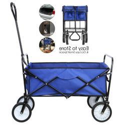 Collapsible Folding Wagon Beach Cart Utility All Terrain Cam