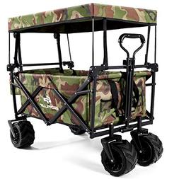 Goplus Collapsible Folding Wagon Cart, Utility Garden Cart C