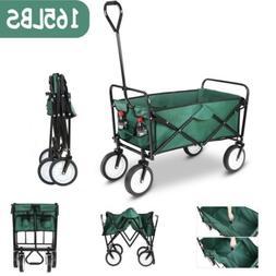 Collapsible Folding Wagon Cart Beach Camping Trolley Garden