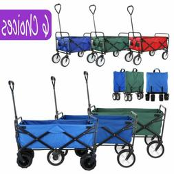 Collapsible Folding Wagon Cart Beach Outdoor Utility All Ter