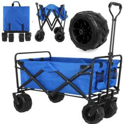 Collapsible Folding Wagon Cart Garden Beach Sport Trolley Bu
