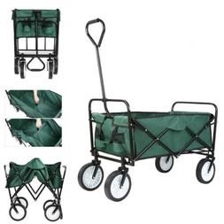 Collapsible Folding Wagon Cart Garden Buggy Shopping Heavy D