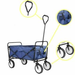Collapsible Folding Wagon Cart Garden Outdoor Sports Utility