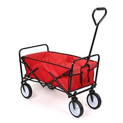 J&T Collapsible Folding Wagon Cart Heavy Duty Outdoor Utilit