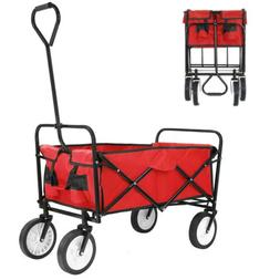 Collapsible Folding Wagon Cart Large Capacity Sport Trolley