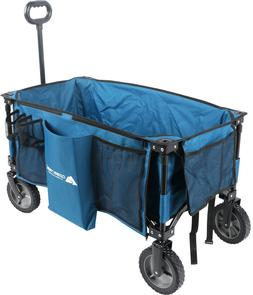 Collapsible Folding Wagon Cart Outdoor Utility All Terrain C