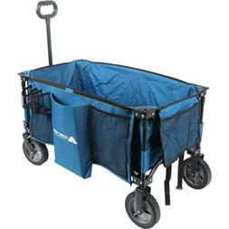 WAGON Quad Folding Utility Buggy Cart Outdoor Blue Camping P
