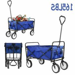 Collapsible Folding Wagon Cart Utility Garden Buggy Camp Bea