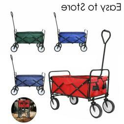 Collapsible Folding Wagon Cart Utility Garden Toy Camp Beach