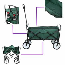 Collapsible Folding Wagon Garden Outdoor Park Utility Wagon