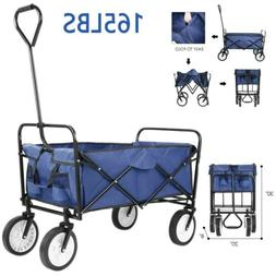 Collapsible Folding Wagon Shopping Cart Utility Buggy Camp C
