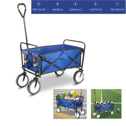 Collapsible Folding Wagon Utility Garden Toy Buggy Camp Beac