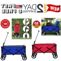 Collapsible Garden Cart Folding Wagon Utility Shopping Outdo