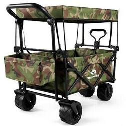 Collapsible Garden Folding Wagon Cart with Canopy