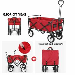 collapsible outdoor utility folding wagon heavy duty
