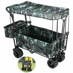 Collapsible Outdoor Utility Wagon All-Terrain Folding Cart R