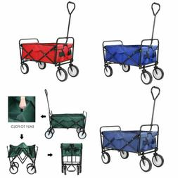 Collapsible Outdoor Utility Wagon Cart Camping Grocery Troll