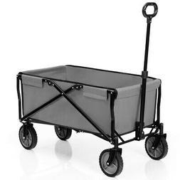 Collapsible Outdoor Utility Wagon Folding Garden Tool Cart G
