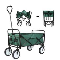 Collapsible Utility Wagon Cart Folding Push Pull Garden Shop