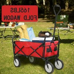 collapsible wagon beach camping garden folding trolley