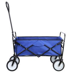 Collapsible Wagon Beach Folding Camping Trolley Garden Utili