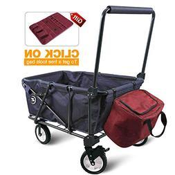 REDCAMP Collapsible Wagon Cart,1200D Removable Canvas & Brak