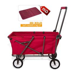 REDCAMP Collapsible Wagon Cart,Folding Utility Wagon All Ter