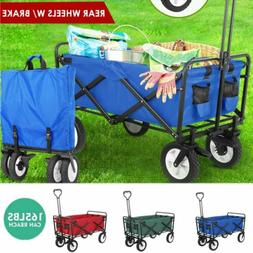 Collapsible Wagon Cart Kid Toy Beach Folding Camping Trolley
