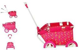 CUBY My First Kid Toy Folding Wagon Baby Pull Along Cart Dol