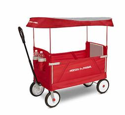 Radio Flyer #3951 Deluxe 3-in-1 EZ Fold Wagon with Canopy