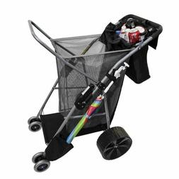 Best Choice Products Deluxe Folding Utility Beach Cart W/ Re