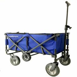 EasyGoWagon 2.0 - Blue Folding Wagon - Collapsible Heavy Dut