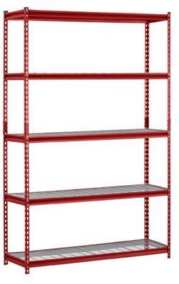 Edsal 5-Shelf Steel Shelving, Red