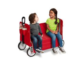 EZ Fold 3 in 1 Red  Wagon  Padded Seat with Seat Belts Bench