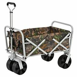 Muscle Carts FBW3621-CAMO Collapsible Folding Utility Wagon,