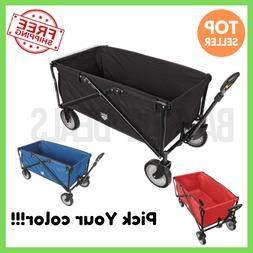 flat foldable lightweight utility wagon for outdoor