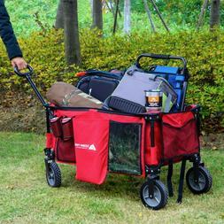 Ozark Trail Fold Up Wagon Quad-Folding Collapsible Wagons Li