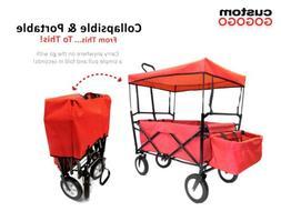 Foldable Outdoor Garden Utility Cart Collapsible Folding Cam