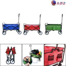 Folding  Beach Cart Wagon Garden Shopping Outdoor Sport Hand