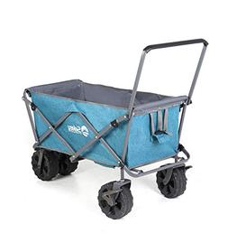 Sekey Folding Beach Wagon with Brakes Collapsible Wagon Cart