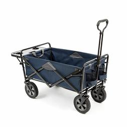 New Folding Blue Sports Beach Cart Wagon with Table Utility
