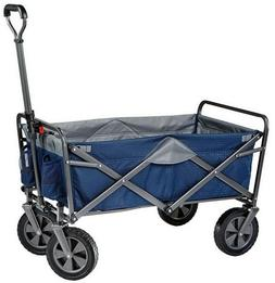 Folding Blue Sports Cart Wagon Collapsible Utility Mac Beach