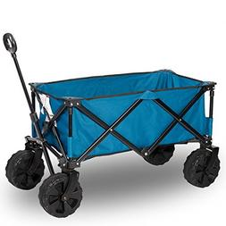 Timber Ridge Folding Camping Wagon Cart for Garden and Beach