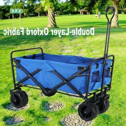 Folding Collapsible Beach Wagon Garden Camping Utility All-T