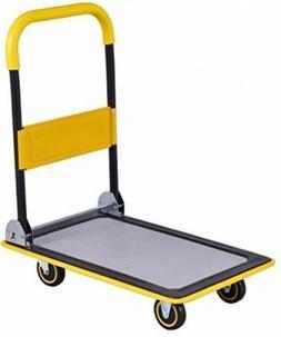 Folding Platform Cart 330LB Rolling Flatbed Cart Hand Platfo