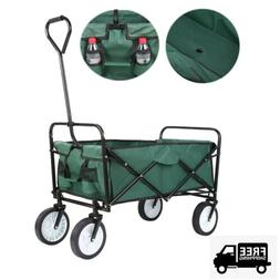 Folding Utility Wagon Collapsible Camping Trolley Garden Yar