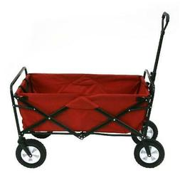 Folding Utility Wagon Easy Transport W/ Large Capacity In Re