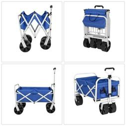 BCP Folding Utility Wagon Garden Beach Cart w/ All-Terrain W